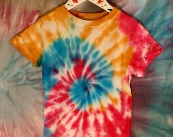 Kids tie dye tshirt