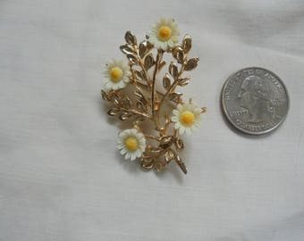 Vintage Brooch with Flowers