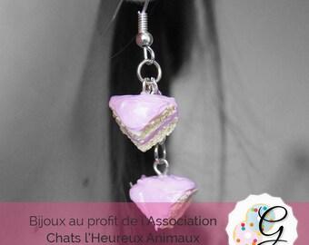 Pink cake Stud Earrings