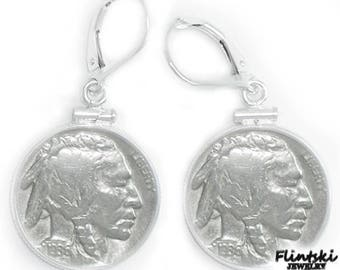 Indian Head Nickel Coin Earrings