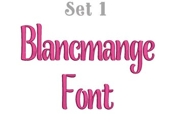 6 Size Blancmange Font Set1 Embroidery Fonts BX  9 Formats Embroidery Pattern Machine BX Embroidery Fonts PES