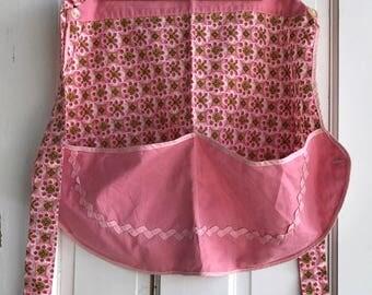 Vintage Handmade Pink Apron