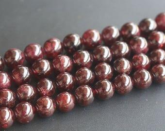 Natural Garnet Round Beads 6mm , 15 Inch Full Strand