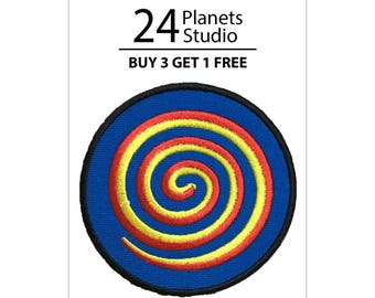Spiral Circle Iron on Patch by 24PlanetsStudio