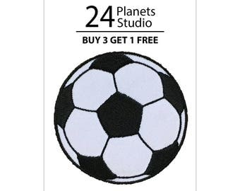 Soccer Ball Football Iron on Patch by 24PlanetsStudio