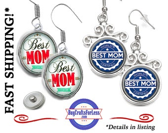 BeST MoM EARRiNGS, SNAP Buttons, 2 NeW designs, 2 Styles  +FREE Shipping & Discounts