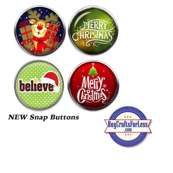 SNaP CHRiSTMAS ASST'd BUTTONs, 18mm INTERCHaNGABLE Buttons, 4 NEW Styles +FREE Shipping & Discounts