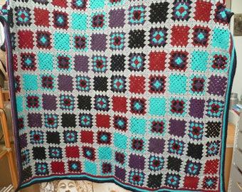 handmade crochet throw or blanket