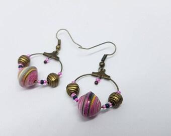 Model unique hoop earrings