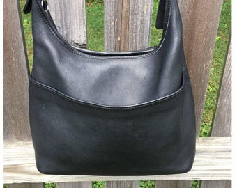 Vintage Black Coach Bag: Made in the USA