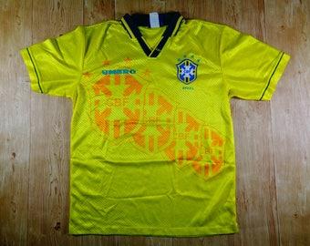 20% OFF Vintage 90s Umbro CBF BRASIL Football Club Jersey Rare