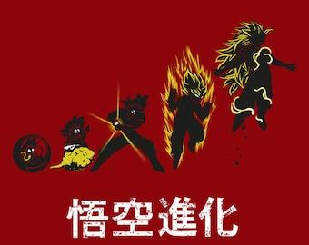 Kakarot Evolution T-shirt / Saiyan Tee / Anime & Manga/ Free Shipping worldwide/