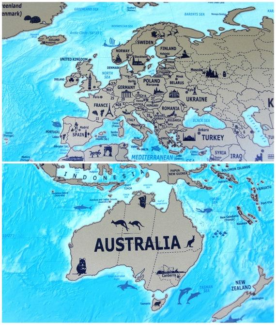 Scratch Off Travel Map Scratch Travel Map Scratch Off World