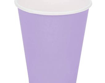 50 Ct Lavender Poly Paper Cups 9oz Hot/Cold, Party Supplies, Wedding Supplies, Party, Wedding, Paper Cups, Beverage Cups, Cups, Supplies