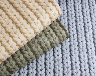 kokka - canvas - faux knit fabric - 50cm