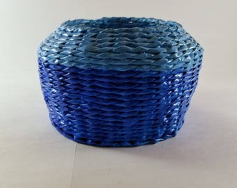 Two Blue Basket