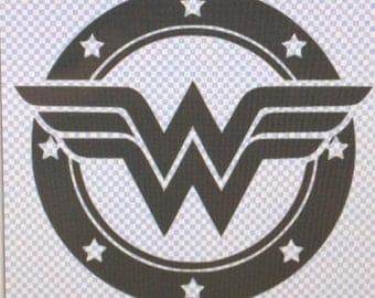 "New Wonder Woman logo- 5""x5""Vinyl decal, car decal, laptop decal, bumper sticker, Dc comics, Super Hero"