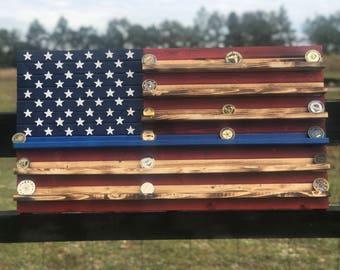 19x36 Thin blue line 90-100 coin American Flag