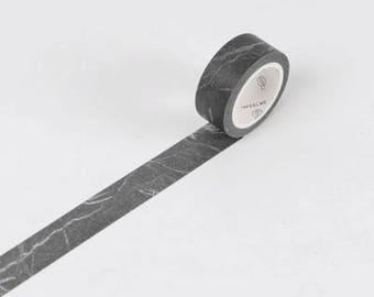 Black Marble Japanese Washi Tape,Minimalist Marble, Masking Tape, Decorative Tape,Stickers, Planner Sticker, Japanese Stationery, Black