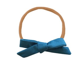 Schoolgirl Bow or Pigtail Set /// Spruce