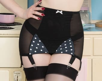 Bettie Thrifty Polka Dot Girdle retro vintage rockabilly 1950's Pin-up style
