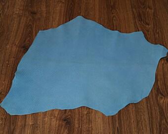 Skin blue lamb leather textured velvet finish (9094520)