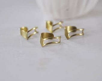 Adjustable ring in raw brass tiara