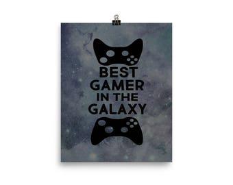 Video game print - gamer decor