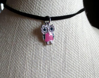Choker with a cute owl charm on it