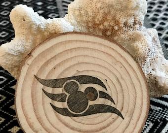 Disney Cruise Magnet, Wood, DCL Logo, Gift, Disney Fish Extender, Mickey, Handmade Vacation Souvenir - LOT of 3!