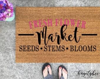 Fresh Flower Market Welcome Mat