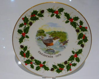Royal Grafton Twelve Days of Christmas 1979 Plate - Four Colly Birds