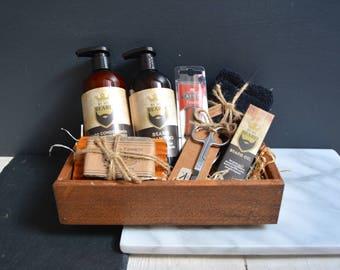Beard Grooming Gift Box // Gift Set // Gift for Him // Gift for Dad // Gift for Boyfriend //