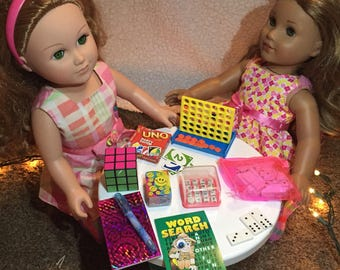 """Doll Accessories-Game Night Set for 18"""" Dolls like American Girl"""