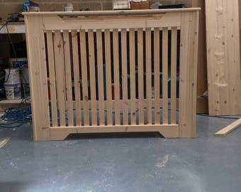 Bespoke pine radiator cover