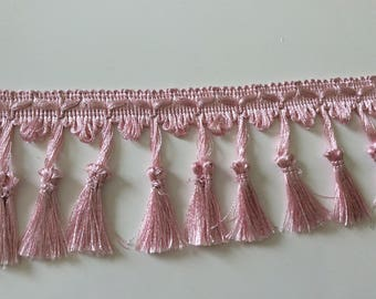 Pink with tassel fringe 9 cm in width
