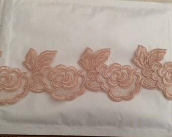Lace old rose lace width 8 cm