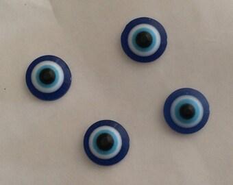 Half Pearl paste glass 10 mm blue eye