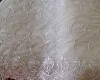 Sheer embroidered 270 height about white breaks
