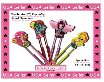 Girly Girl Paper Clips Super Sweet Stocking Stuffers For Kids Xmas Gifts Office Accessories Gifts My Little Pony Cartoon Paper Clips