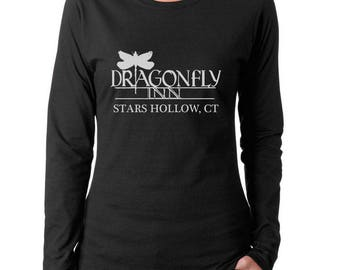 Dragonfly Inn Stars Hollow Connecticut Women Long Sleeves tee T-shirt