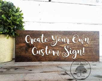 Wood sign etsy for Design your own house sign