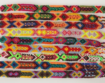 Friendship Bracelet Set / Mexican bracelet / 1 cm wide / Chiapas / boho gypsy hippie bracelet / handwoven / set of 6, 12, 24 or 100 pieces