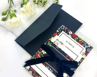 A Touch of Navy- Wedding Invitation DEPOSIT