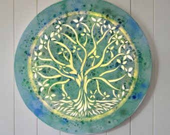 Led canvas art painting 'Tree of life', wall decoration