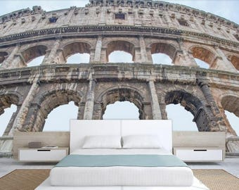 Colosseum wall mural, Atine wall mural, arches wallpaper, arches wall mural, Italy wallpaper, modern wall paper, old city wall mural