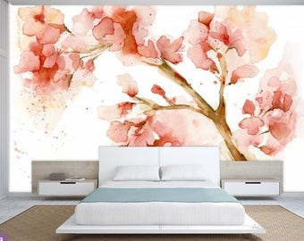 floral watercolor, vintage painting floral, vintage floral, pink painting floral, vintage floral wallpaper, painting floral, watercolor