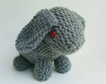 Rabbits/handmade/crochet/stuffed/toy/babies/infants/cute/bunny/easter