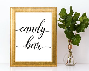 Candy Bar Sign Downloadable PDF Wedding Printable Engagement Party