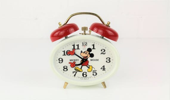 Vintage Mickey Mouse Alarm clock by Bradley, made in Germany-rare fund